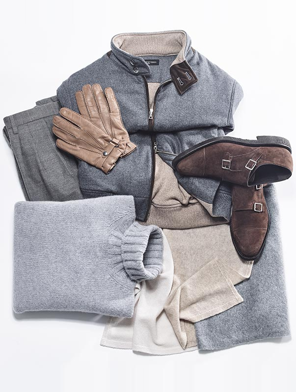 Monteverdi Milano Cashmere, Alcantara and Leather outfit
